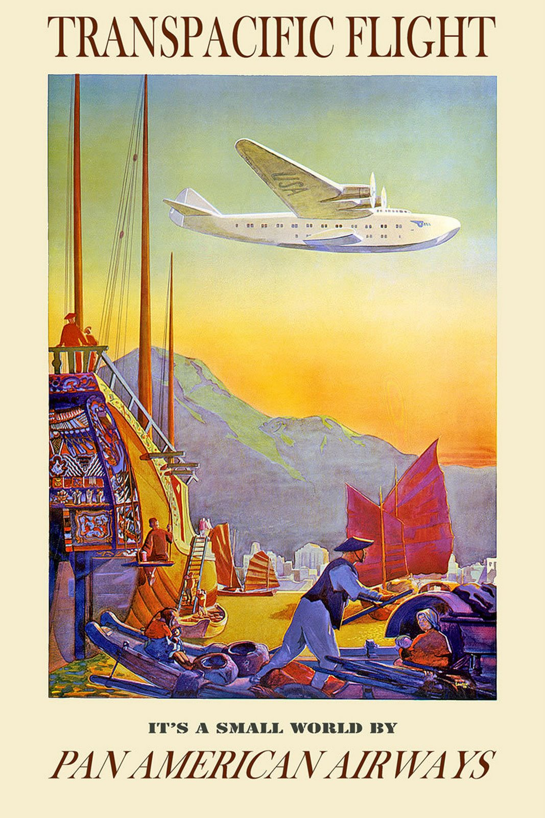 Pan Am Hawaiian Travel Poster